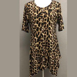 Oddy Plus Women's Cheetah Print Tunic